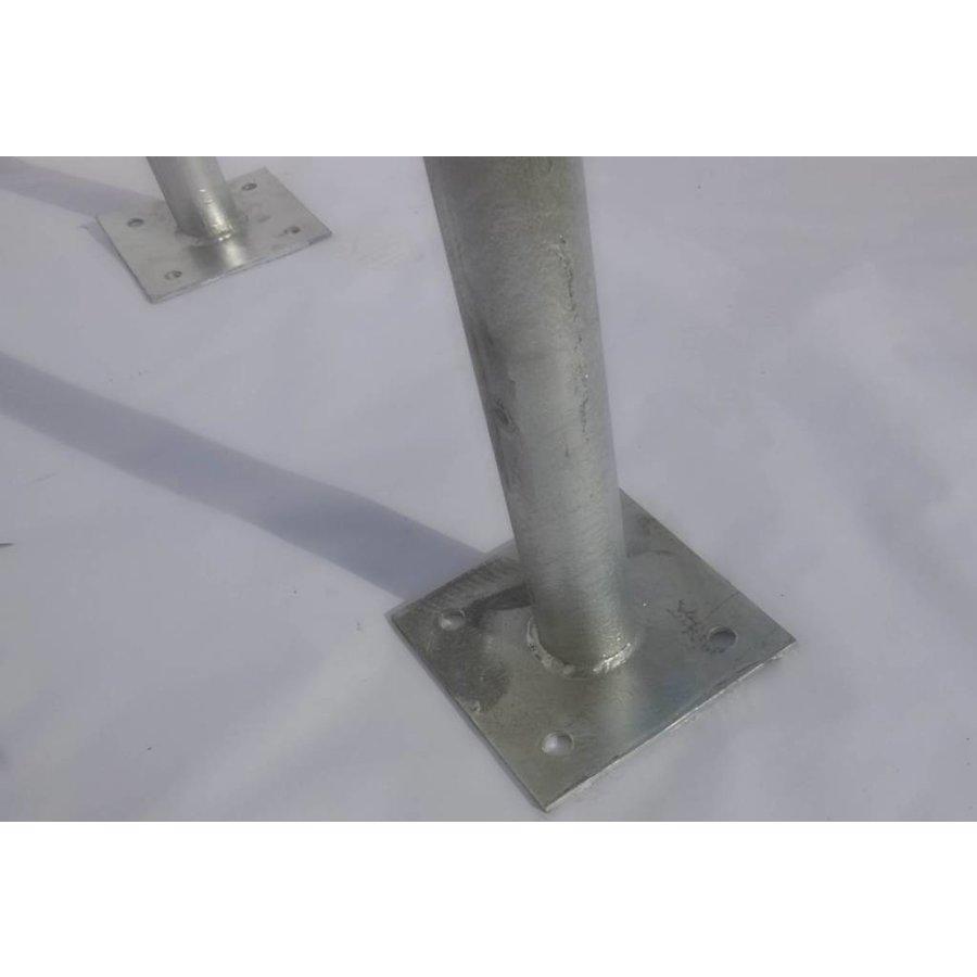 Fietsbeugel U-vorm 600 x 650 mm met voetplaat uit gegalvaniseerd staal-3