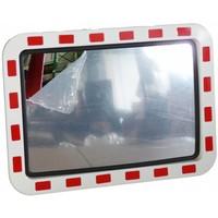 thumb-Miroir de circulation 'TRAFFIC DELUXE' 400 x 600 mm - rouge/blanc-1
