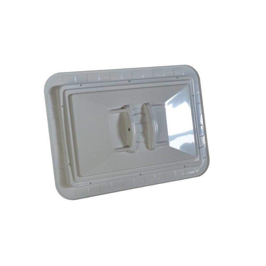 Miroir de circulation 'TRAFFIC DELUXE' 400 x 600 mm - rouge/blanc-3