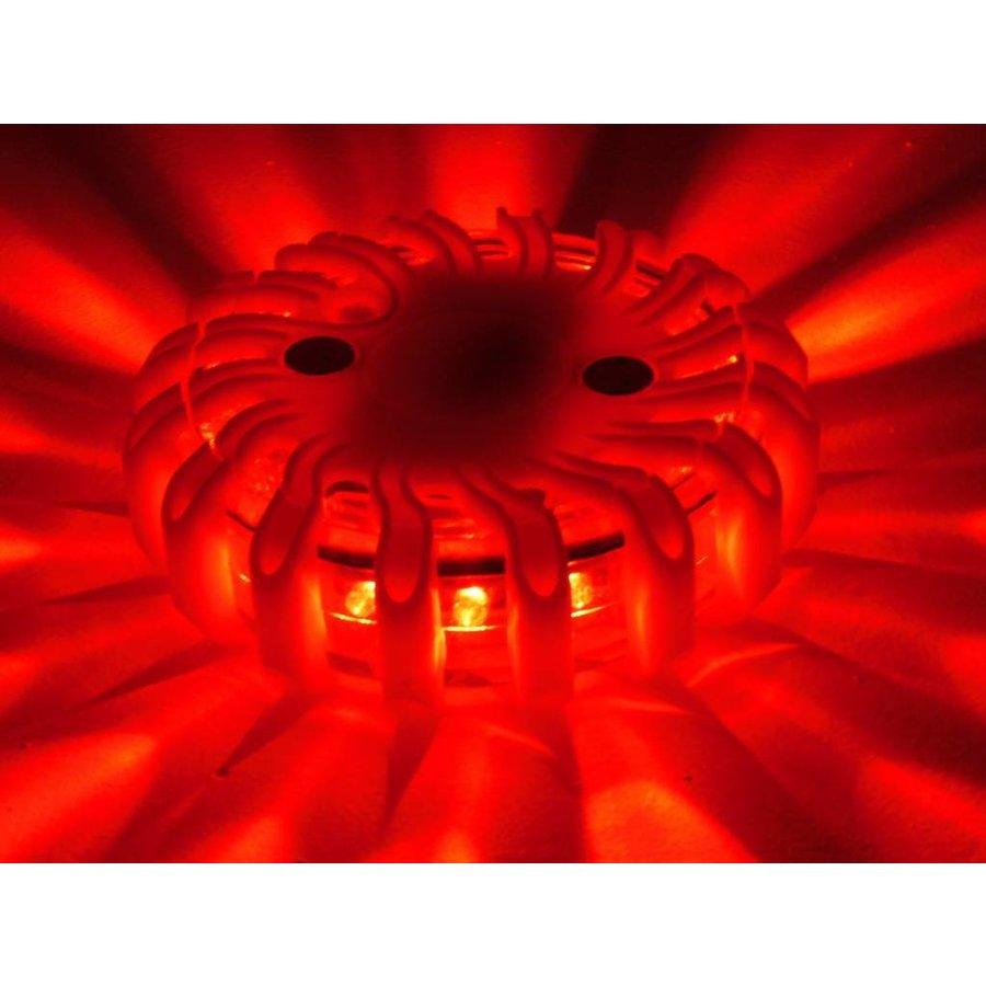 Koffer met 6  oplaadbare oranje LED rotorlichten - magnetisch-6