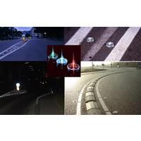 thumb-Plot - réflecteur de route en verre trempé - blanc - diamètre 100 mm - hauteur 45 mm-2