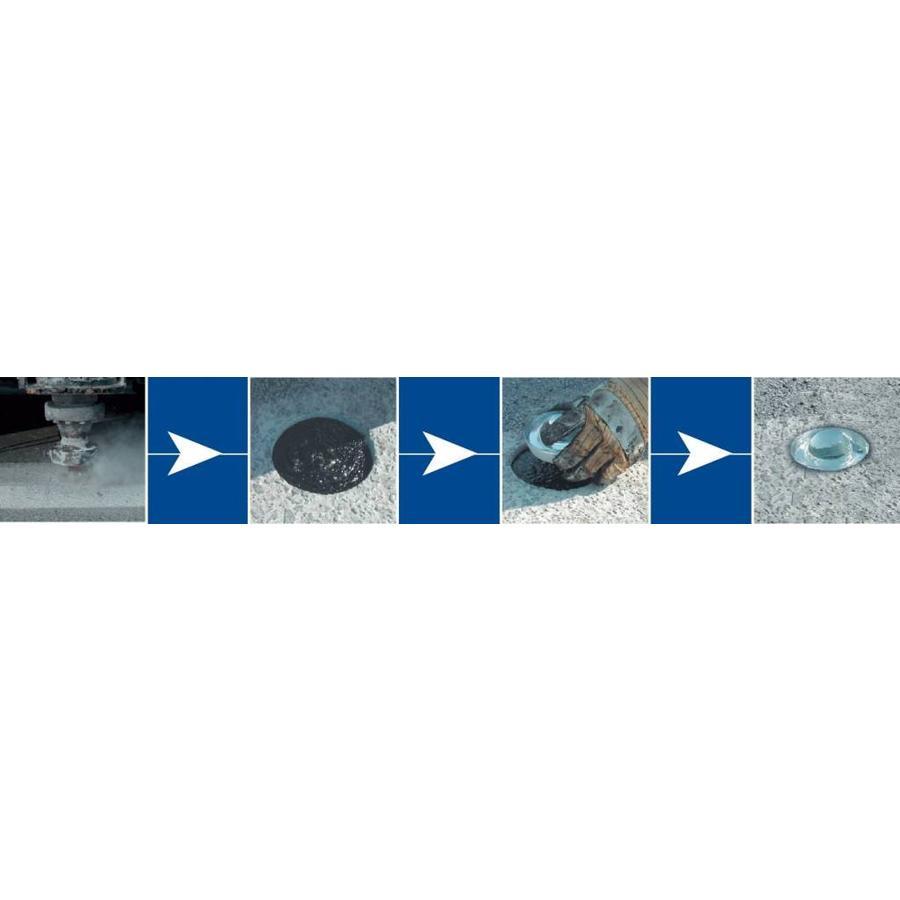 Plot - réflecteur de route en verre trempé - blanc - diamètre 100 mm - hauteur 45 mm-3