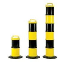 thumb-Kettingpaal industrie Geel / zwart Ø 200 mm + 5 m ketting-2
