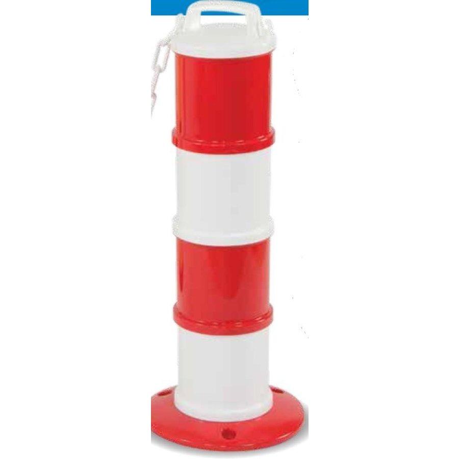 Balise modulaire Rouge / Blanc Ø 200 mm + 5 m de chaîne-1