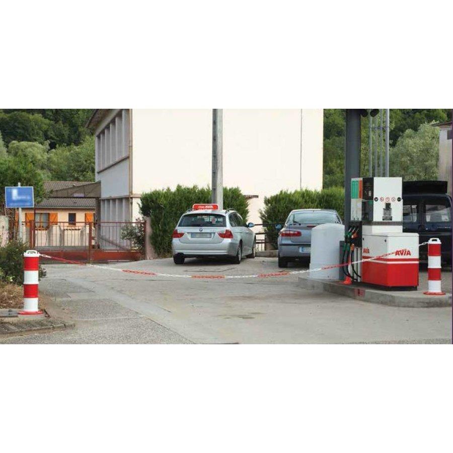 Kettingpaal industrie Rood / Wit Ø 200 mm + 5 m ketting-4