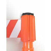 thumb-Dérouleurs de sangle pour cônes - 3 m x 100 mm - Rouge & Blanc.-1
