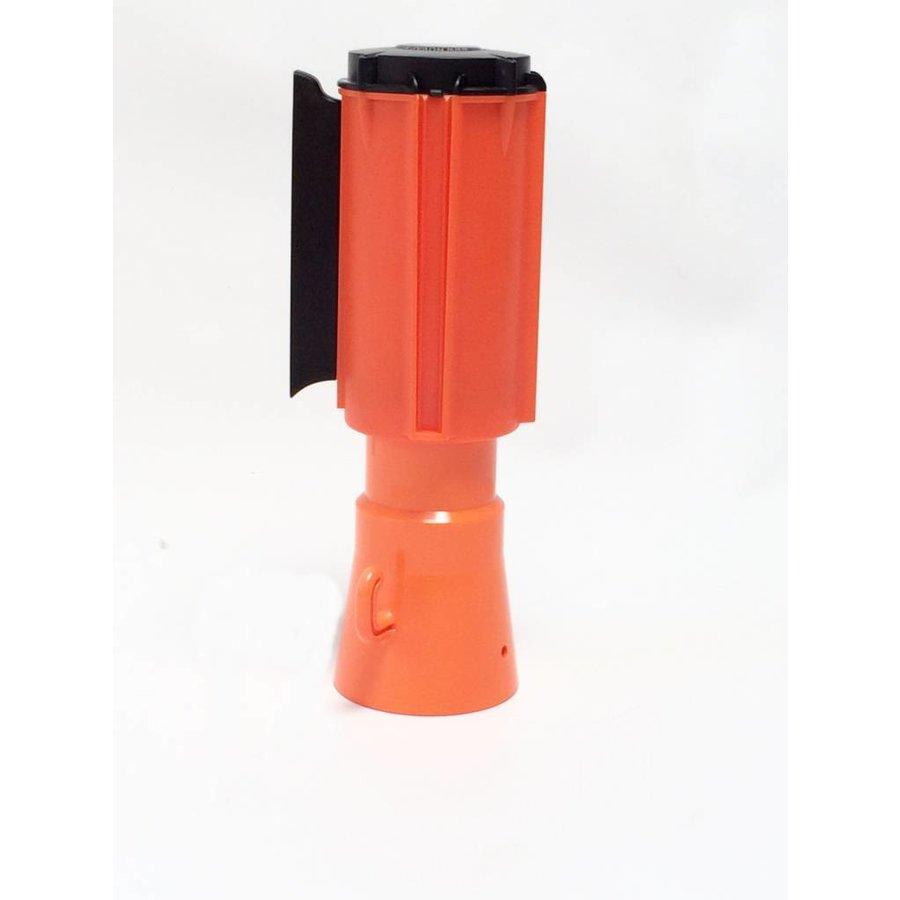 Dérouleurs de sangle pour cônes - 3 m x 100 mm - Rouge & Blanc.-6