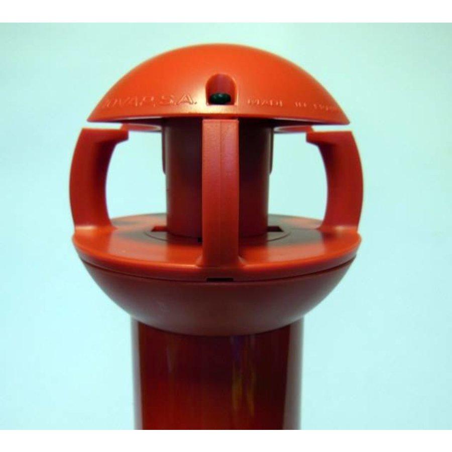 Poteau aluminium de 97 cm x Ø 60 mm. 4 crochets + soccle avec 2 réflecteurs-2
