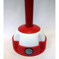 thumb-Aluminium kettingpaal 97 cm x Ø 60 mm. 4 haken + voetstuk met 2 reflectoren-3