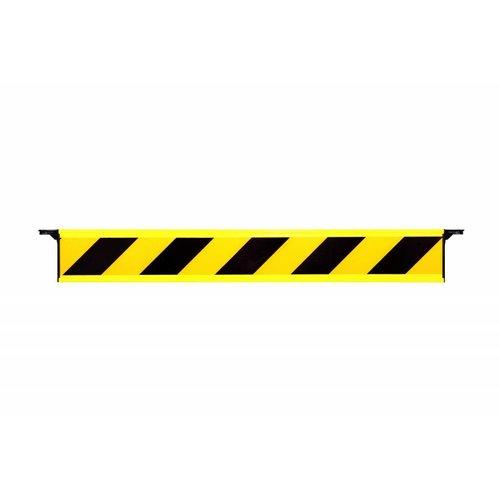Barrière fixe rétroréfléchissante avec crochets d'extrémité
