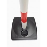 thumb-Poteau PVC socle chantier 4 kg à lester. 90 cm. Rouge / Blanc-2