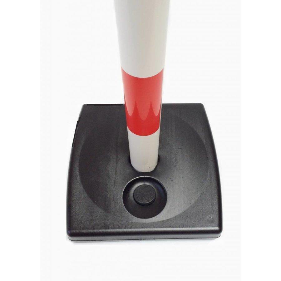 Poteau PVC socle chantier 4 kg à lester. 90 cm. Rouge / Blanc-2