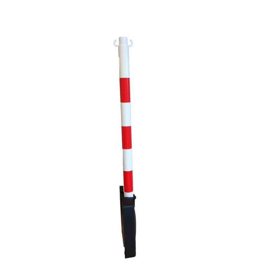"""Poteau PVC """"Bi-pose"""" 90 cm rouge / blanc4 kg.-2"""