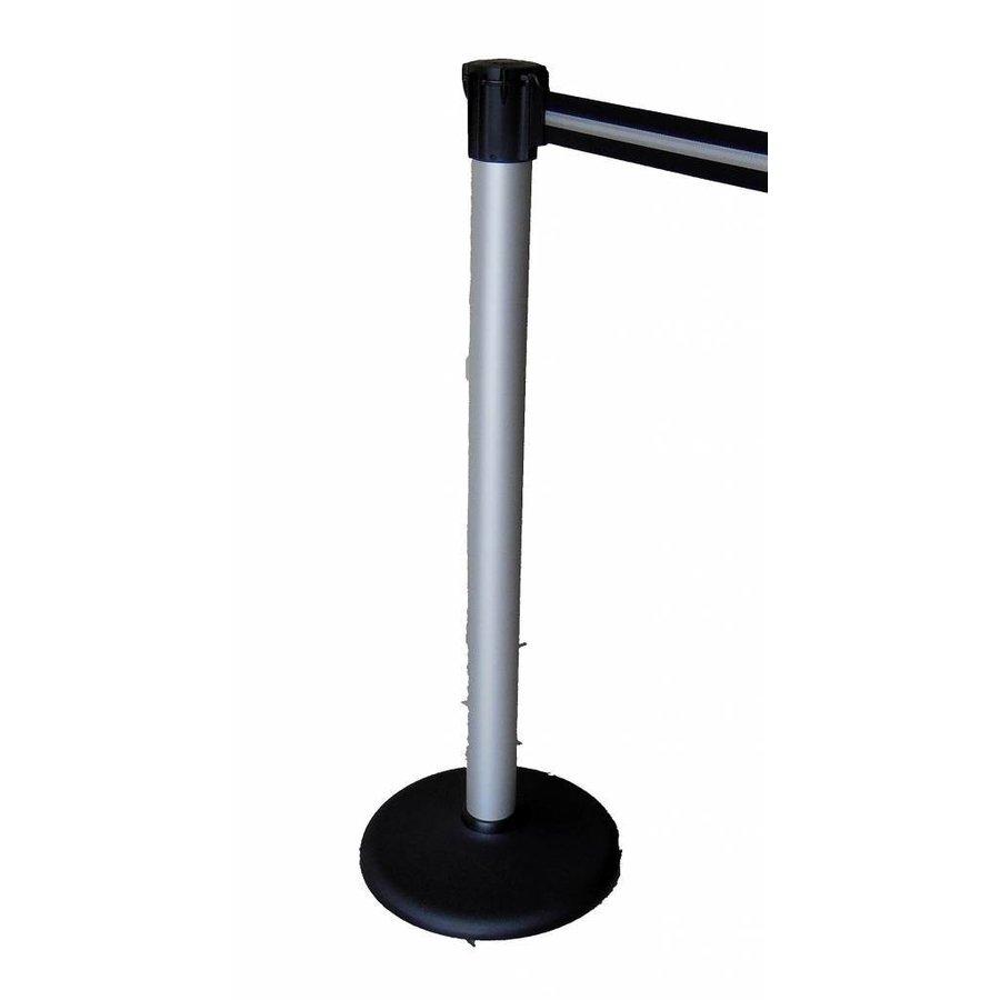 Mât en aluminium rétractable avec la couleur de la bande de barrière noir / argent 3 m.-1