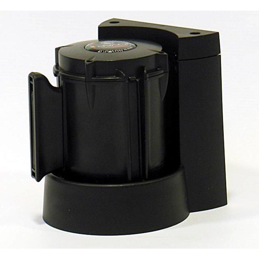 Afzetlinthouder met magneet en met afzetlint van 3 m x 50 mm Rood - Zwart-3