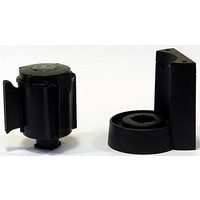 thumb-Afzetlinthouder met magneet en met afzetlint van 3 m x 50 mm Rood - Zwart-4