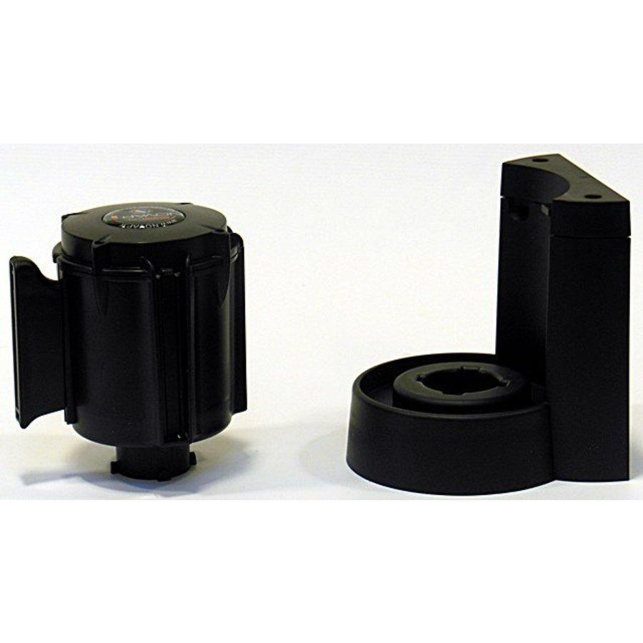 Afzetlinthouder met magneet en met afzetlint van 3 m x 50 mm Rood - Zwart-4