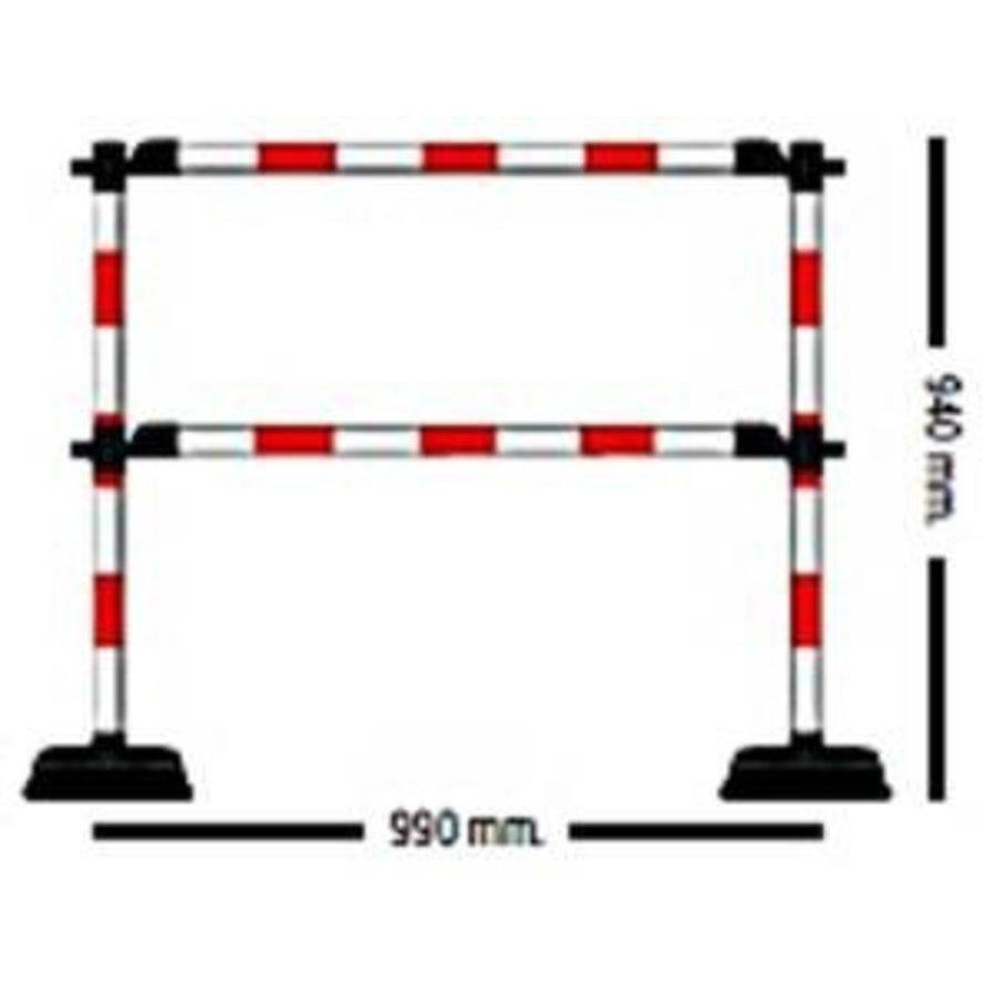 """1 mètre de barrière """"Express"""" - 2 lisses Rouge / Blanc-1"""