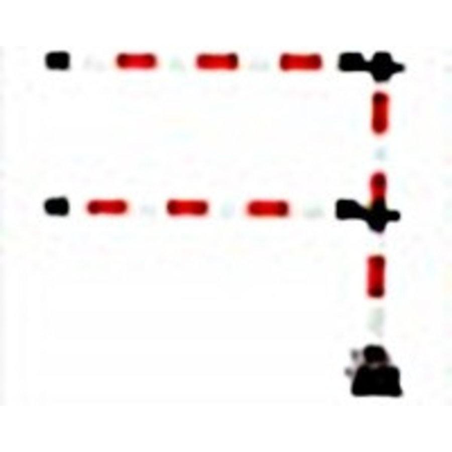 """1 mètre de barrière """"Express"""" - 2 lisses Rouge / Blanc-4"""