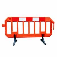 thumb-Barrière de chantier Gatebarrier orange 1000 x 2000 mm-1