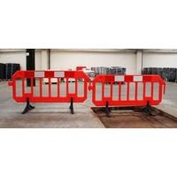 thumb-Barrière de chantier Gatebarrier orange 1000 x 2000 mm-2