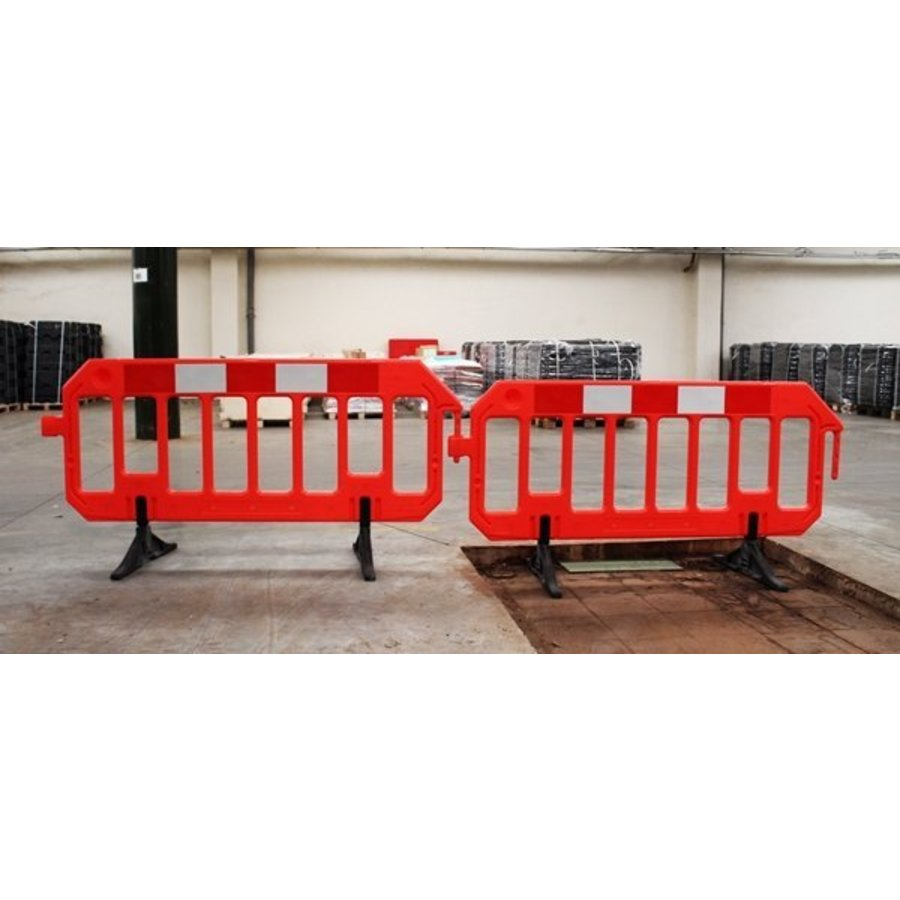 Werfhek Gatebarrier in polyethyleen oranje 1000 x 2000 mm-2