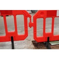 thumb-Barrière de chantier Gatebarrier orange 1000 x 2000 mm-3