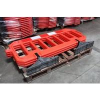 thumb-Barrière de chantier Gatebarrier orange 1000 x 2000 mm-4