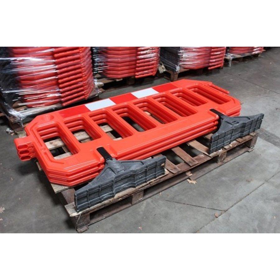 Werfhek Gatebarrier in polyethyleen oranje 1000 x 2000 mm-4
