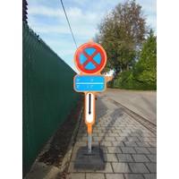 thumb-Tijdelijk parkeerverbod - PEHD bekleefd met reflecterende film-1