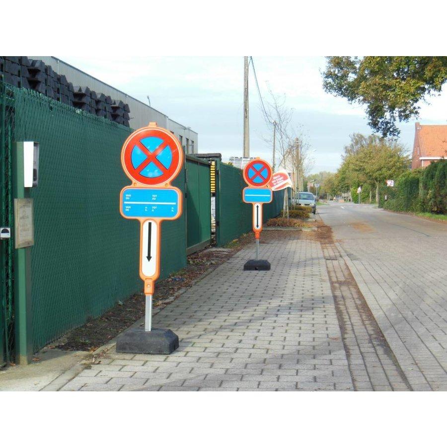 Tijdelijk parkeerverbod - PEHD bekleefd met reflecterende film-2