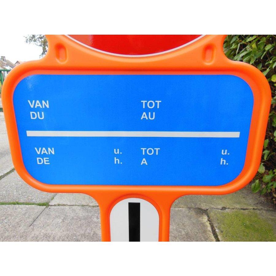 Panneau interdiction de stationnement - PEHD avec film réfléchissante-3