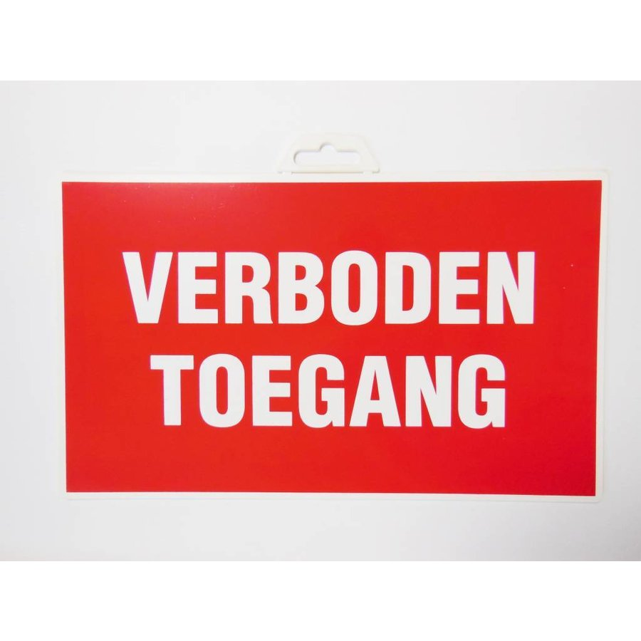 Pictogram 'Verboden Toegang'-2
