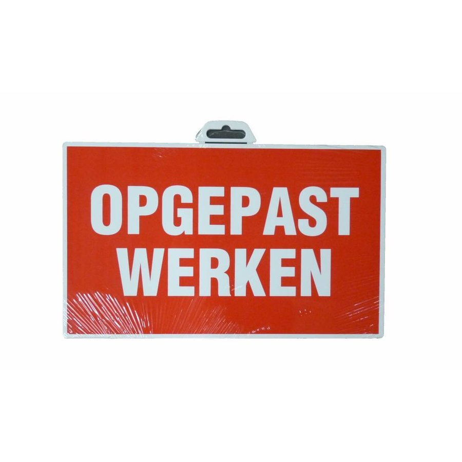 Pictogram 'Opgepast Werken' 330 x 200 mm-1