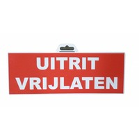 thumb-Pictogram 'Uitrit vrijlaten' 330 x 120 mm-1