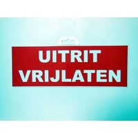 thumb-Pictogram 'Uitrit vrijlaten' 330 x 120 mm-2