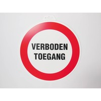 thumb-Pictogram 'Verboden Toegang' Ø 300 mm-2