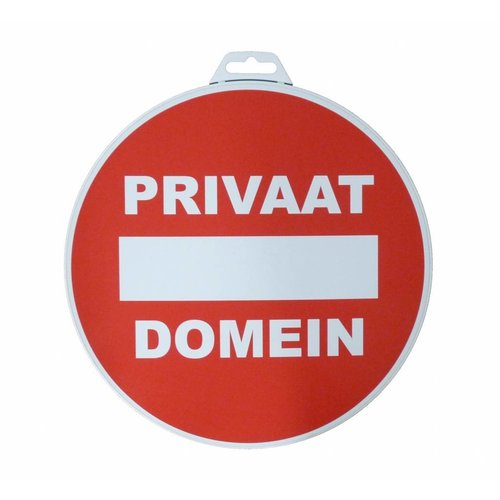 Pictogram 'Privaat Domein' Ø 300 mm