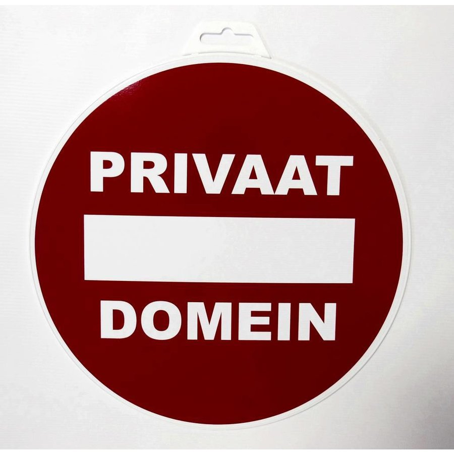 Pictogram 'Privaat Domein' Ø 300 mm-2