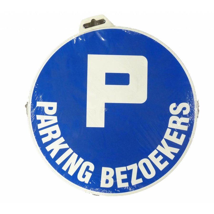 Panneau 'Parking Visiteurs'' Ø 300 mm-2