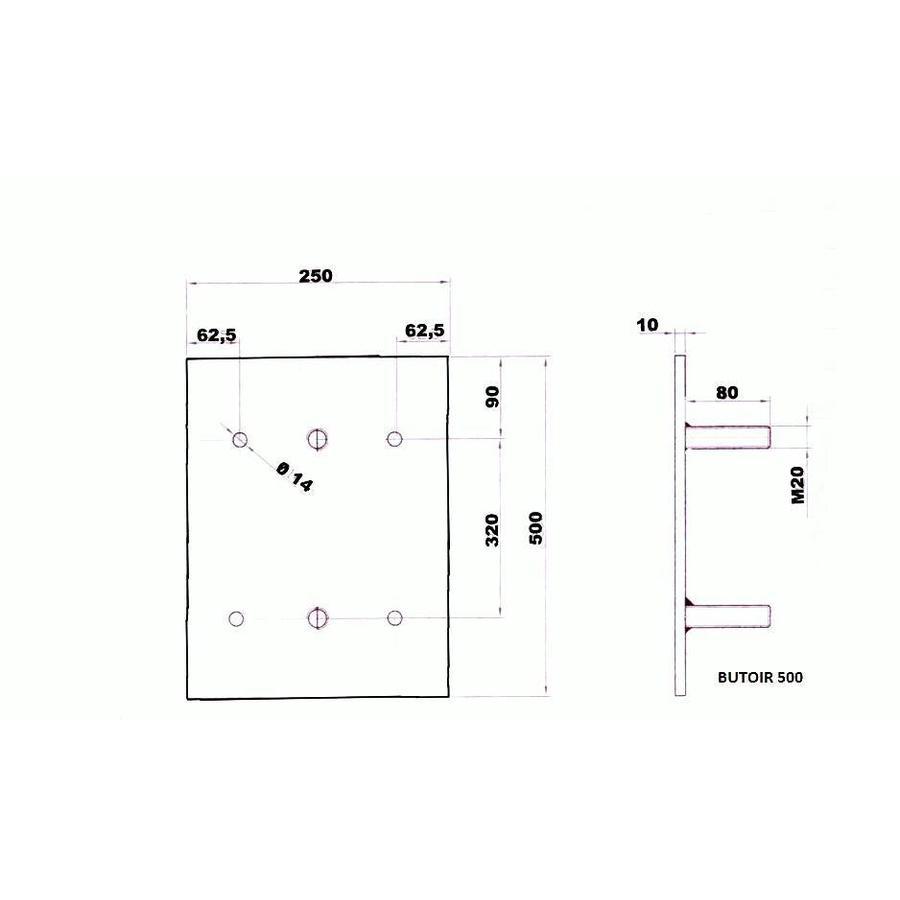 Stootblokken voor laadkades - rubber-7