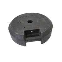 thumb-Socle ronde 25 kg en PVC recyclé-1