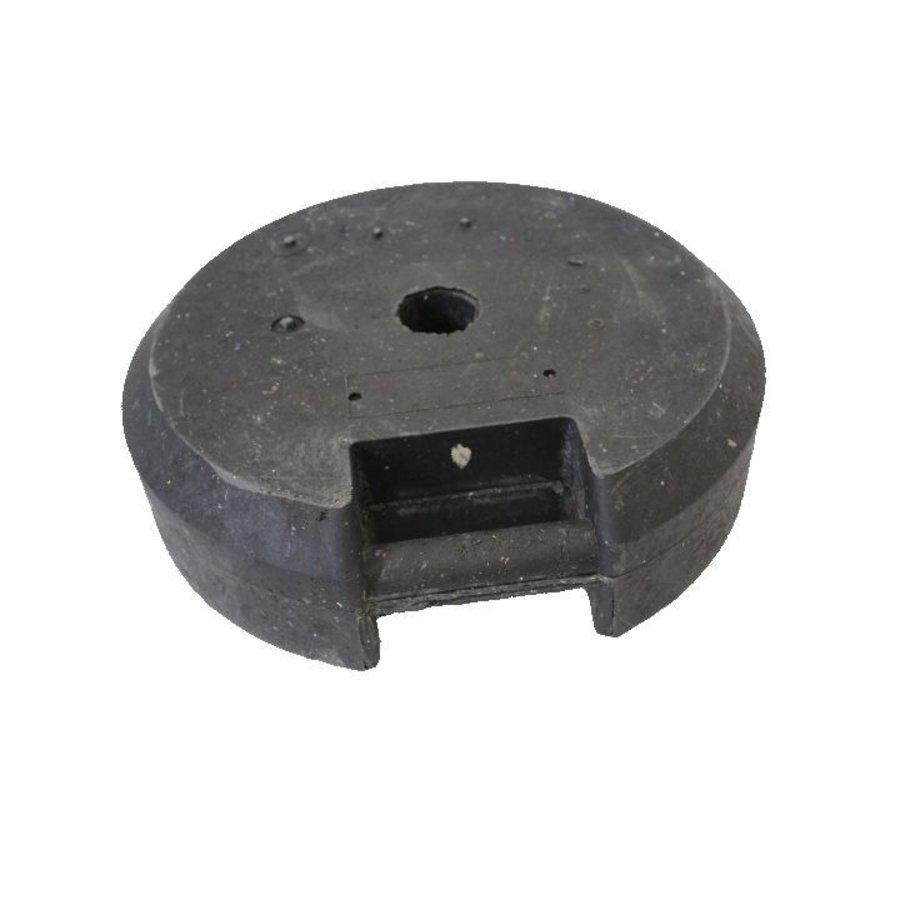 Socle ronde 25 kg en PVC recyclé-1