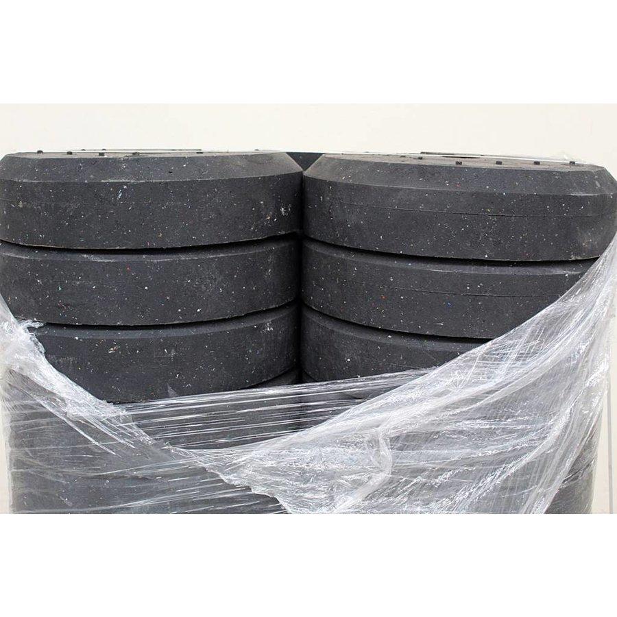 Socle ronde 25 kg en PVC recyclé-3