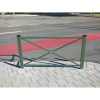 thumb-Barrière Pagode 158 x 80 cm hauteur - Vert Ral 6009-2