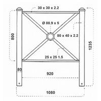 thumb-Barrière PAGODE 108 cm - Vert Ral 6009-3