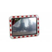 thumb-Miroir de circulation 'TRAFFIC DELUXE' 600 x 800 mm - rouge/blanc-1