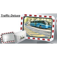 thumb-Miroir de circulation 'TRAFFIC DELUXE' 600 x 800 mm - rouge/blanc-3