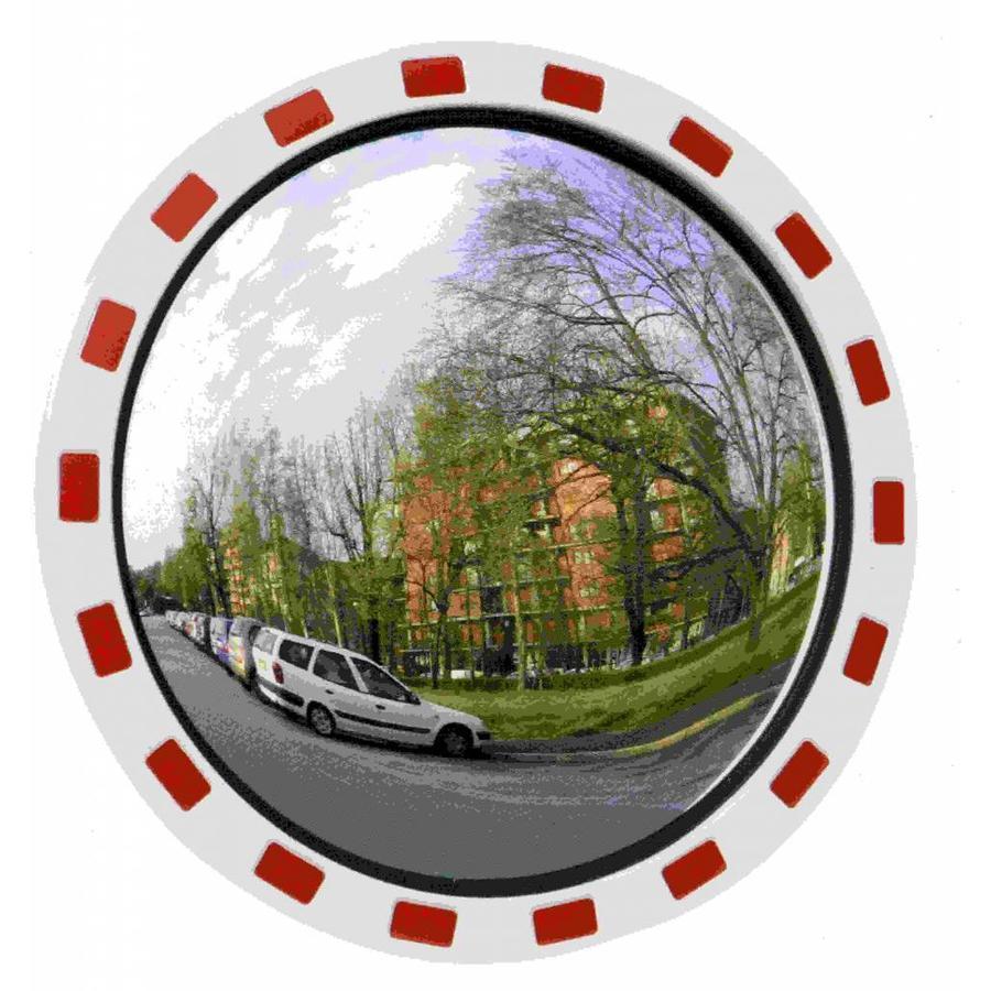 Miroir de circulation 'TRAFIC DELUXE' (Rond) 600 mm - rouge/blanc-1