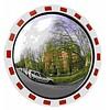 Miroir de circulation 'TRAFIC DELUXE' (Rond) 800 mm - rouge/blanc